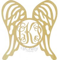 Wings Border Monogram