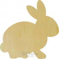 Wholesale Wooden Rabbit Cutout