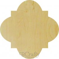 "Quatrefoil Wooden Plaque with 1/4"" Routed Border"