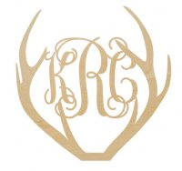 Wholesale Wooden Antler Monogram