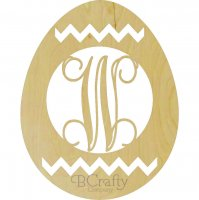 Easter Egg Chevron with Monogram Insert