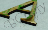 GREEK Wooden Letters - Peel and Stick 1/8 inch thick