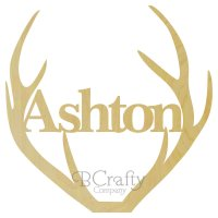 Antler with Name ONLY - Deer Antler Border