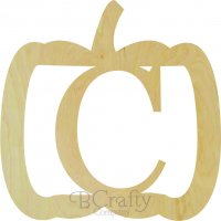 Pumpkin Wide Border Single wooden letters