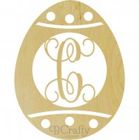 Easter Egg Dots Border Single Wooden Letter