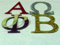 GREEK Acrylic Letters - Peel and Stick 1/8 inch thick