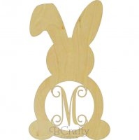 Wholesale Bunny w Floppy Ear Monogram Border