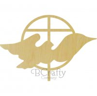 Dove and Cross Wooden shape
