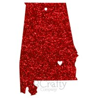 State Shape Ornament with Heart City Acrylic Ornaments - Laser Cut
