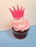 Crown Cupcake Topper 6 count - Laser