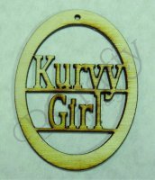 Kurvy Girl Wood Ornaments - 1/8 inch