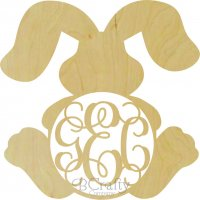 Wholesale Bunny w Floppy Ears Monogram Shape