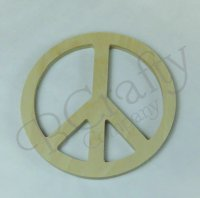 Wooden Peace Sign Shape