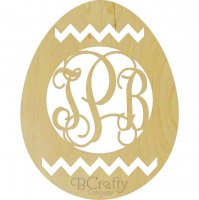 Easter Egg Chevron Monogram Border