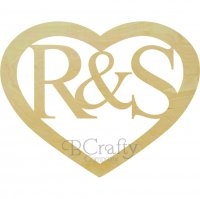 HEART Border Classic Connected Monograms