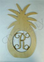 Pineapple Wooden Shape with Monogram Insert