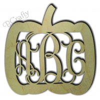 Wide Pumpkin Border Monogram