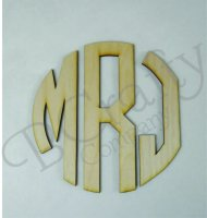 Circle Wooden Monograms - Peel and Stick 1/8 inch thick
