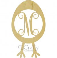 Egg with Legs Border Single wooden letters
