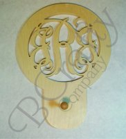Connected Monograms With Coat Hook - 1/2 inch thick