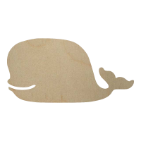 Wholesale Wooden Whale Cutout - Style 3