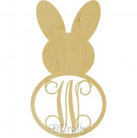 Bunny Style 2 Border Single Wooden Letter