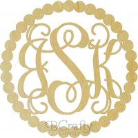 Wholesale Framed Monogram - Pearl Border