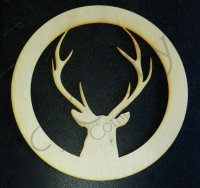 Wholesale Wooden Buck w Circle Cutout