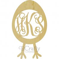 Egg with Legs Connected Monogram