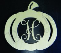 PUMPKIN Border Single wooden letters