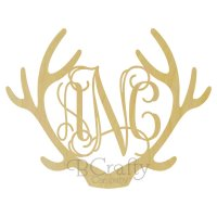 Wholesale Wooden Reindeer Antler Monogram