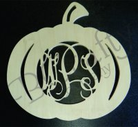PUMPKIN Border Vine Connected Monograms