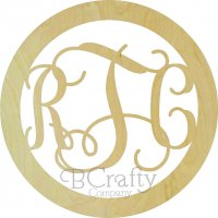 Panoramic Connected Vine Monogram Border Options
