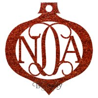 Wholesale Acrylic Monogram Ornament - 1/8 inch