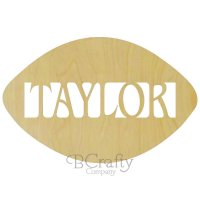 Football Wooden Shape with Name Insert