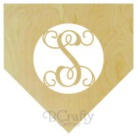 Home Plate Border Single Wooden Letter
