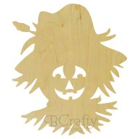 Scarecrow with Face Wooden shape