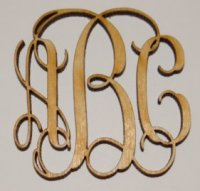 Vine Wooden Monograms - Peel and Stick 1/8 inch thick