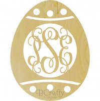 Easter Egg Dots Monogram Border