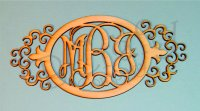 Oval Monograms with an Ornate Border - 1/8 inch thick