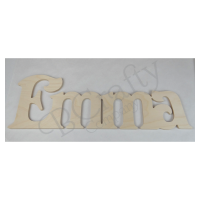Free Standing CONNECTED Wooden Letters - 3/4 inch thick