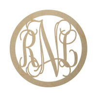 Wholesale Framed Wooden Monogram - Vine