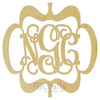 Whimsy Border Wooden Monogram - 1/8 inch thick