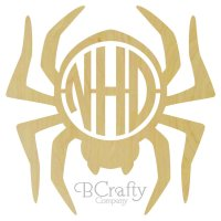 Spider Border Circle Cut Monogram