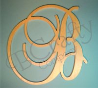 Uppercase Wooden Script Letters - Baroque