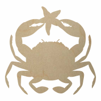 Wholesale Wooden Crab w Starfish Cutout