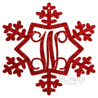 Snowflake Style 3 Border Single Letter Acrylic Ornaments-1/8 inch