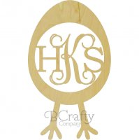 Egg with Legs Monogram Insert