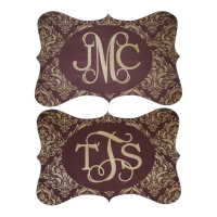 Wholesale Monogram Wooden Sign