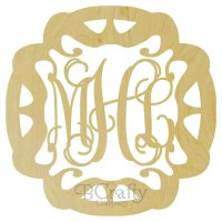 Groovy Border Wooden Monogram - 1/8 inch thick